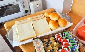 写真:朝食バイキング一例