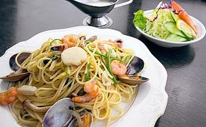 写真:海鮮和風スパゲッティ